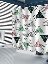 cheap -Shower Curtains New Design Geometric triangle coconut digital shower curtain