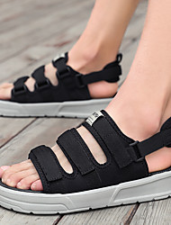 cheap -Men's Mesh Spring & Summer Classic / British Sandals Walking Shoes Breathable Black / Black and White