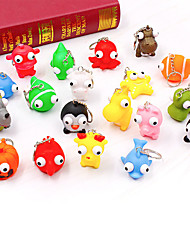 cheap -Key Chain Creative Lovely Novelty Kawaii Silicone Metal Adults Children's All Toy Gift 1 pcs