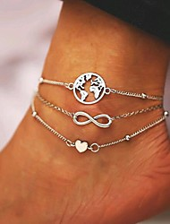 cheap -Body Chain Fashion Women's Body Jewelry For Festival Alloy Silver