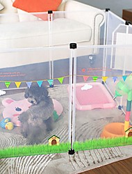 cheap -Dog Fence Playpen Pet Gate Portable Non-Skid Durable Cute Plastic Green 8pcs