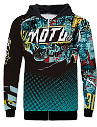 cheap -MOTO Motocross Fleece Polyster Warmer Fast dry Sweat shirt Motorcycle Jersey Riding Wear Downhill Clothing Outdoor Sports Casual Coat Warm Sweat shirt