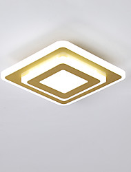 cheap -20 cm Square Line Design Flush Mount Lights Metal Acrylic Modern Style Painted Finishes LED / Modern 110-120V / 220-240V
