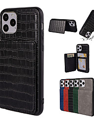 cheap -iPhone11Pro Max Crocodile Card Wallet Phone Case XS Max Shatterproof Open 6/7 / 8Plus Cover