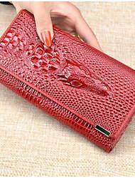 Недорогие -Жен. PU Клатч Сплошной цвет Красный