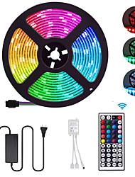 Недорогие -5 метров Гибкие светодиодные ленты / Наборы ламп / RGB ленты 300 светодиоды SMD5050 10mm 1 пульт дистанционного управления 44Keys / 1 х 12 В 5A блок питания 1 комплект Разные цвета