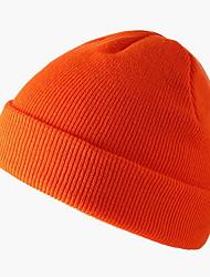 Недорогие -Жен. Классический Широкополая шляпа Вязаная одежда,Однотонный Лиловый Желтый Оранжевый