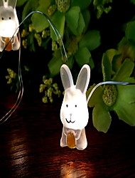 cheap -2m String Lights 20 LEDs 1 set Warm White Easter Day Bunny Rabbit AA Batteries Powered