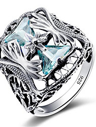 cheap -Women's Ring Gemstone 1pc Silver Platinum Plated Alloy Stylish Daily Jewelry Heart Cute