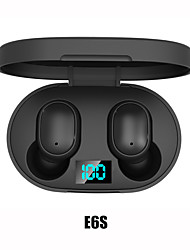 cheap -E6S Wireless Earbuds TWS Headphones Wireless Stereo with Microphone with Volume Control with Charging Box Waterproof IPX4 for Mobile Phone