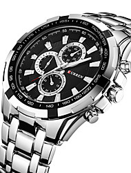 cheap -CURREN Men's Steel Band Watches Quartz Formal Style Stylish 30 m Water Resistant / Waterproof Casual Watch Cool Analog Luxury Outdoor - Black Black / White Gold / White / Large Dial