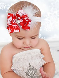 cheap -Kids / Toddler / Newborn Girls' Active / Sweet Santa Claus Snowflake Bow Spandex Hair Accessories One-Size