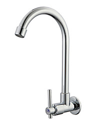 cheap -Kitchen faucet - Single Handle One Hole Electroplated Standard Spout Wall Mounted Contemporary Kitchen Taps