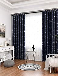 cheap -Gyrohome 1PC Small Star Moons Shading High Blackout Curtain Drape Window Home Balcony Dec Children Door *Customizable* Living Room Bedroom Dining Room
