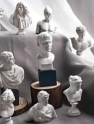 cheap -10 Pieces/SET Sketch Head Statue Gypsum Bust Mini Statue Gypsum Sketch Line Drawing Teaching Resin Art Craft Display