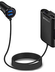 Недорогие -4 порта fast 3.02.4a3.1a usb автомобильное зарядное устройство универсальный usb быстрый адаптер с удлинительным кабелем 5.6ft для автомобильного телефона mpv dc12v-24