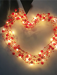 cheap -5m String Lights 50 LEDs Warm White Valentine's Day Christmas Decorative Holiday AA Batteries Powered