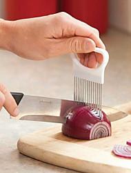 Недорогие -2шт лук для резки овощей резки помидор нож для резки помощи держатель руководство нарезки резак безопасной вилкой лук резак кухонные принадлежности