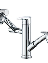 cheap -Bathroom Sink Faucet - Standard Electroplated Centerset Two Handles Two HolesBath Taps