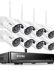 cheap -ZOSI H.265 1080P Wireless CCTV System HDD 2MP 8CH Powerful NVR IP IR-CUT CCTV Camera IP Security System Surveillance Kits Day and Nightvision Waterproof Remote Viewing