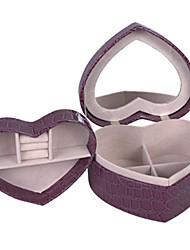 cheap -Jewelry Box - Chocolate, Light Pink, Red 14 cm 12 cm 7 cm / Women's