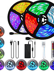 cheap -2x5M Flexible LED Strip Lights Light Sets RGB Tiktok Lights 600 LEDs SMD5050 10mm 1 44Keys Remote Controller 1 x 10A power adapter 1 set Multi Color Waterproof Cuttable Party 85-265 V