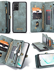 cheap -Samsung S20Plus Mobile Phone Case Plus Wallet Integrated Flip-type Leather Case Note10Plus Anti-drop and Shock-resistant 11 Card Slots 3 Wallets 1 Zipper bag A70 Protective Cover