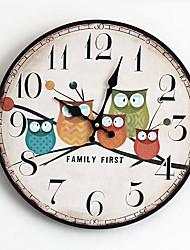 Недорогие -сова настенные часы art большие настенные часы старинные деревянные настенные часы большие потертые деревенские кухни