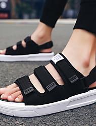 cheap -Men's / Unisex Cotton Spring & Summer British / Preppy Sandals Walking Shoes Waterproof Black / Dark Grey / White