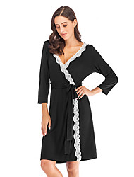 cheap -Women's Chemises & Gowns Nightwear Black Navy Blue S M L