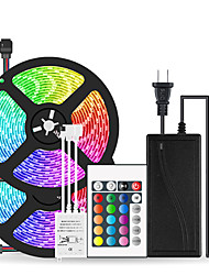 cheap -2x5M Flexible LED Strip Lights Light Sets RGB Tiktok Lights 600 LEDs SMD5050 10mm 1 24Keys Remote Controller 1 x 10A power adapter 1 set Multi Color Waterproof Cuttable Party 12 V