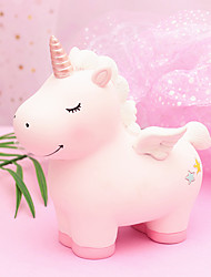 cheap -Piggy Bank / Money Bank Unicorn Novelty Plastic Imaginative Play, Stocking, Great Birthday Gifts Party Favor Supplies Boys' Girls' Adults'