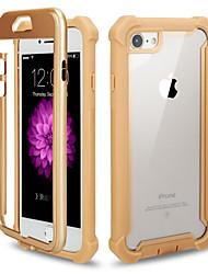 Недорогие -чехол для apple iphone 7 / iphone 6 plus / iphone 6 зеркало задняя крышка сплошной цвет искусственная кожа