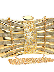 cheap -Women's Bags Polyester / Alloy Evening Bag Crystals Chain for Wedding / Event / Party Black / Blue / Red / Gold / Silver / Wedding Bags