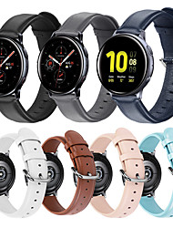 cheap -Watch Band for Gear S2 / Samsung Galaxy Watch 42mm / Samsung Galaxy Active Samsung Galaxy Leather Loop / Modern Buckle / Business Band Quilted PU Leather Wrist Strap