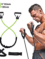 cheap -Resistance Band Set 5 pcs Door Anchor Exercise Handles Exercise Bands Sports Latex Home Workout Gym Exercise & Fitness Anti-Wear Strength Training Heavy Duty Muscular Bodyweight Training Muscle