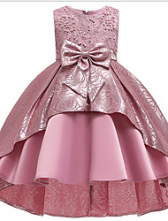 cheap -Ball Gown Ankle Length Pageant Flower Girl Dresses - Polyester Sleeveless Jewel Neck with Bow(s) / Appliques