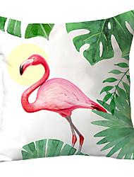 cheap -1 pcs Polyester Pillow Cover Flamingo Sofa Throw Pillow Fresh Countryside North Europe INS Piaochuang Waist Pillow Cartoon Cushion Headrest Girl Pillow Cover