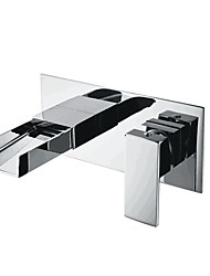 cheap -Bathroom Sink Faucet - Wall Mounted Contemporary Basin Mixer Tap Waterfall Chrome Water Tap