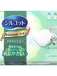 cheap -Japan 1/2 makeup remover Silcot Sponge Facial Makeup Remover Cotton 82 Sheets