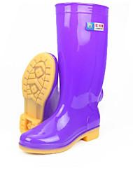 cheap -Men's PU Winter Boots Knee High Boots Purple / Green