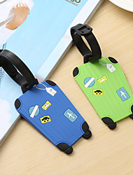 cheap -Mr and Mrs Luggage Tag Personalized Custom Made Unique Luggage Accessory Durable Convenient Leather Silica Gel 2pcs Black / Green Blue Rose Monogram Travel Accessory