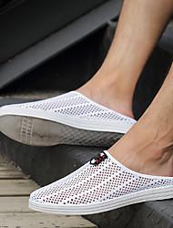 cheap -Men's Comfort Shoes Mesh Spring & Summer Classic Slippers & Flip-Flops Walking Shoes Waterproof Black / White / Gray