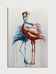 cheap -Hand Painted Canvas Oilpainting Abstract Animal Home Decoration with Frame Painting Ready to Hang