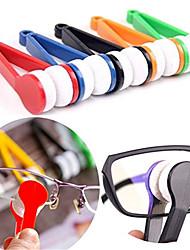Недорогие -5шт микрофибра мини солнцезащитные очки для очков чистой щеткой для чистки очков инструмент