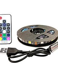 cheap -2m Flexible LED Light Strips RGB Tiktok Lights TV Background Lights 60 LEDs SMD5050 10mm 1 17Keys Remote Controller 1 set Multi Color Waterproof USB Self-adhesive 5 V