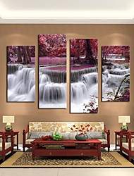 cheap -5 Panels Modern Canvas Prints Painting Home Decor Artwork Pictures Decor Print Rolled Stretched Modern Art Prints Abstract Landscape