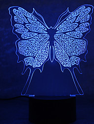 cheap -1Pc Usb Power Abstract Art 3D Lights Colorful Touch Gradient Vision Night Lights Colorful 3D Acrylic Table Lamp&Suitable for mom to take care of baby at night