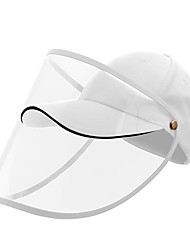 cheap -Protection Full Face Baseball Cap Transparent Hat Helmet Isolation Respirator Spittle Safety Work Protection Face Cap Anti Dust Anti Wind Dust Adjustable Removable-White