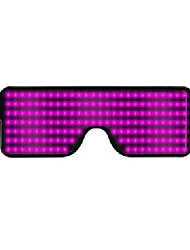 cheap -1pcs 11 Modes Luminous Glasses Quick Flash Led Party Glasses USB Charge Christmas Concert Light Toys Light Eyeglasses